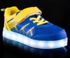 GLEAMKICKS Kids' Robo Gleamer Shoe - Blue/Yellow 2