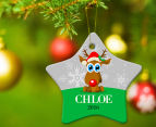 2 x Personalised Christmas Star Ornaments 6