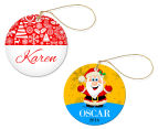 2 x Personalised Christmas Round Ornaments 1