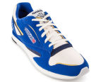 Reebok Men's World Best Sneaker - Chalk/Blue/Gold 2