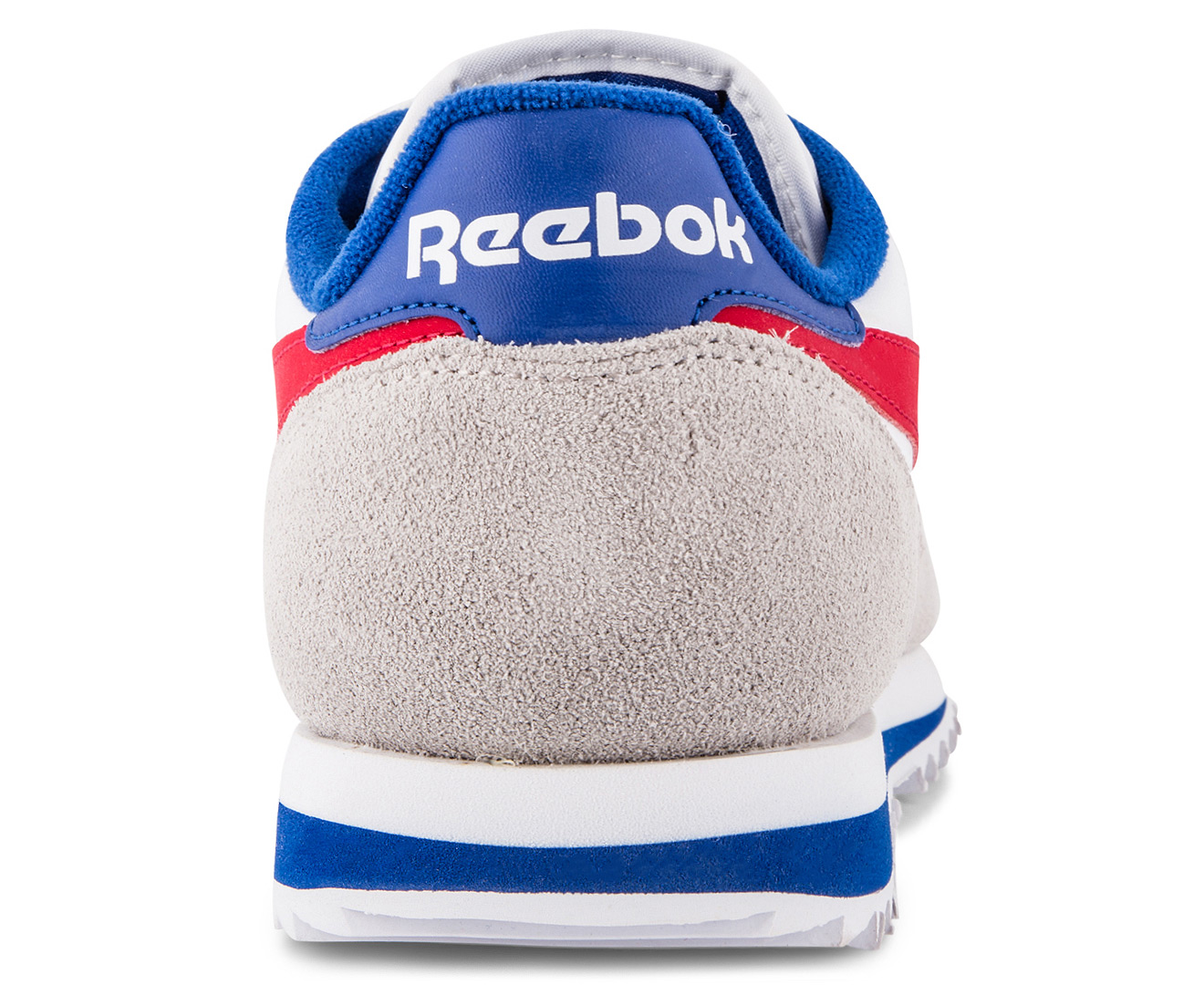 competitive price 04182 a2262 Reebok Mens Classic Leather Ripple Low BP Sneaker - WhiteBlueRedGrey .