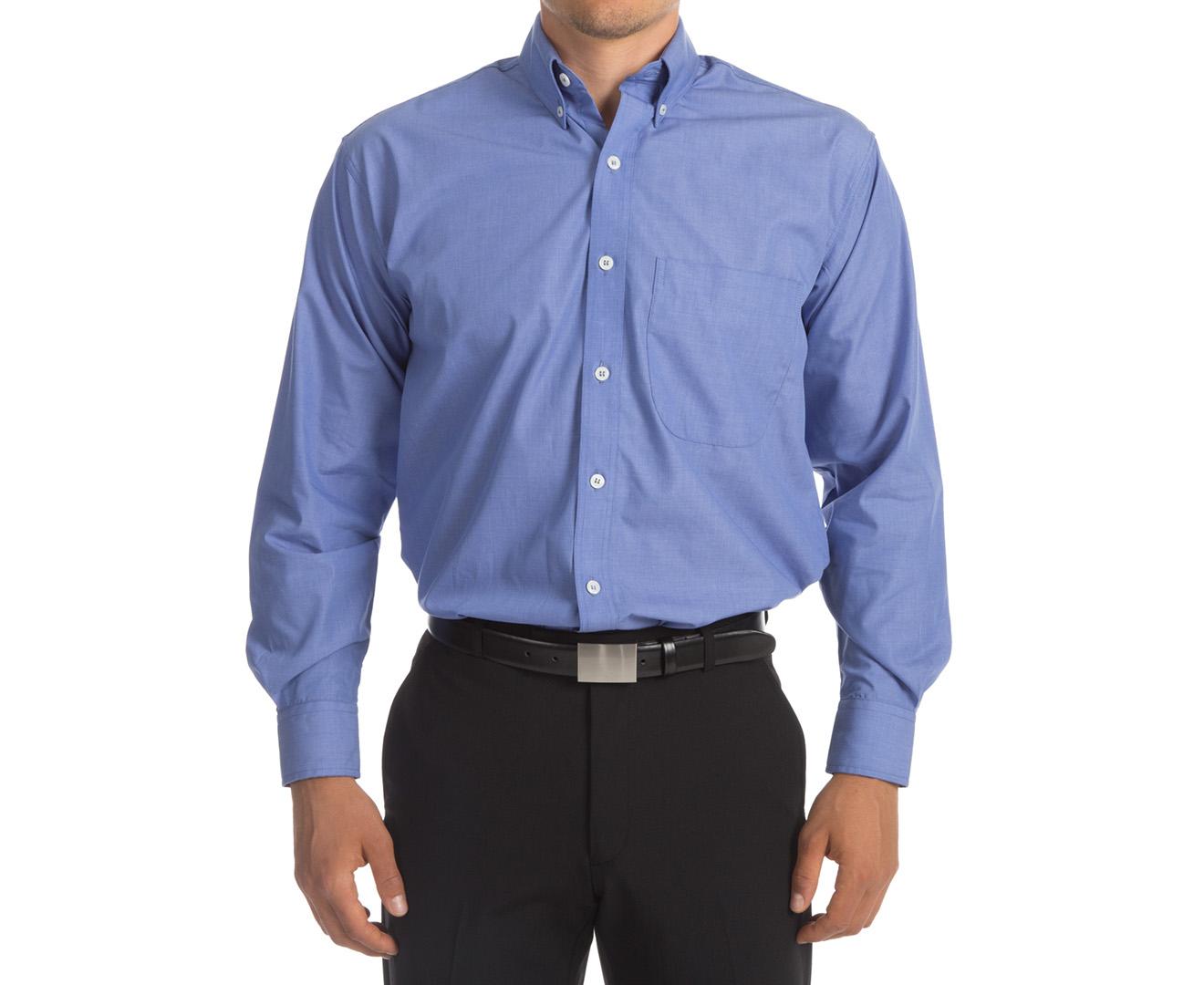 Nnt Men 39 S Long Sleeve Full Cutaway Collar Shirt Mid Blue