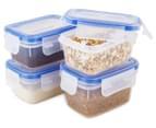 Airtight Food Storage Containers 18-Piece Set - Blue/Transparent 4