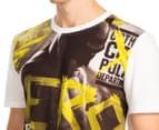 Batman v Superman Men's Knit PJ Set - Yellow/Charcoal 6