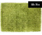 London Metallic 130x70cm Shag Rug - Lime 1