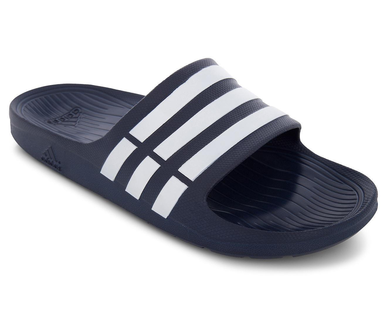 ada7d660bd64 Adidas Unisex Duramo Slide - Navy White