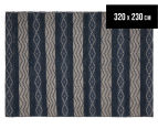 Maple & Elm 320x230cm Wool & Jute Flatweave Rug - Teal 1