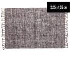 Traveller 225x155cm Modern Wool Blend Rug - Grey 1