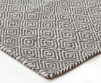 Amalia Scandinavia Flatweave Diamond 280x190cm Rug - Grey/White 2