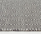 Amalia Scandinavia Flatweave Diamond 280x190cm Rug - Grey/White 3