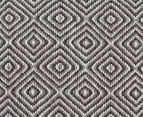 Amalia Scandinavia Flatweave Diamond 280x190cm Rug - Grey/White 4