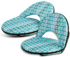 Cooper & Co. Geo Ikat Foldable Beach Chair - Turquoise/White 4