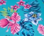 Cooper & Co. Floral Foldable Beach Chair - Blue/Multi 5