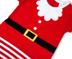 BQT Baby Boys' Santa Romper & Hat 2-Piece Set - Red 5