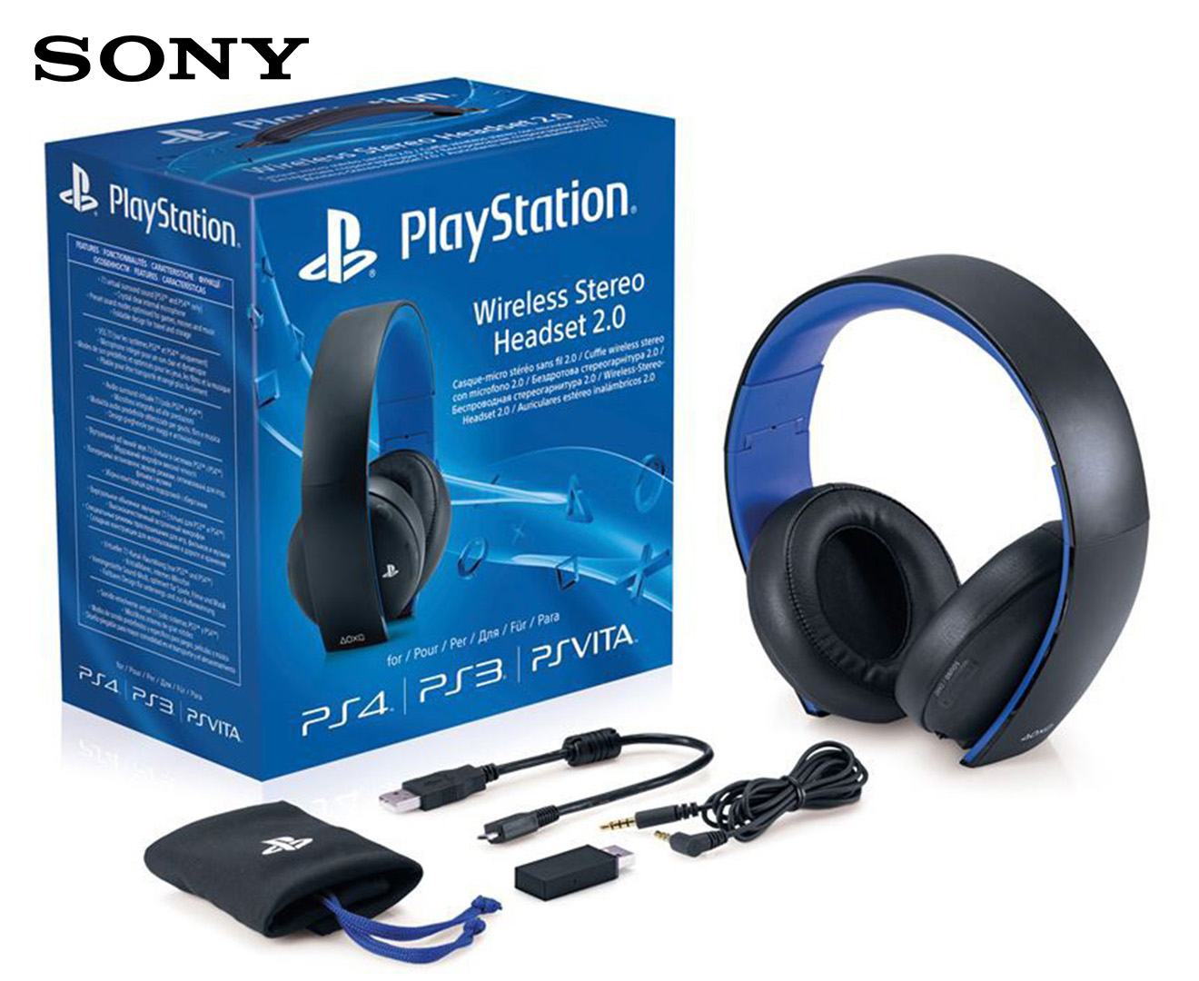 sony wireless stereo headset 2 0 black scoopon shopping. Black Bedroom Furniture Sets. Home Design Ideas