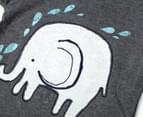 BQT Elephant Top & Shorts 2-Piece Set - Charcoal Marle 5