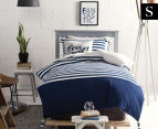 Marie Claire Mini By Linen House Breton Single Bed Quilt Cover Set - Blue/White 1