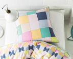 Hiccups By Linen House Domino Euro Pillowcase - Pink  2