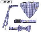 Wag Worthy Dog Accessory Value Pack for Medium Dogs - Blue 1