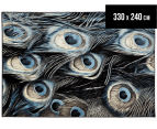 Rug Culture 330x240cm Flight Rug - Black/Aqua 1