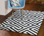 Maldives 290x200cm Waterproof Indoor & Outdoor Aztec Rug - Navy 2