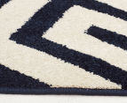 Maldives 290x200cm Waterproof Indoor & Outdoor Aztec Rug - Navy 4