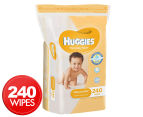 Huggies Thick Baby Wipes 240pk - Shea Butter 1