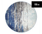 Rug Culture 150x150cm Inca Rug - Blue 1