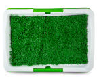 Paws & Claws Toilet Training Tray w/ Grass - White/Green 5