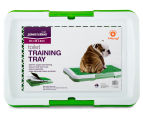 Paws & Claws Toilet Training Tray w/ Grass - White/Green 2
