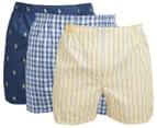 Polo Ralph Lauren Men's Classic Fit Woven Boxers - Navy/Summer Stripe 1