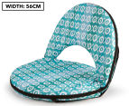 Cooper & Co. Geo Ikat Foldable Beach Chair - Turquoise/White 1