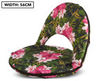Cooper & Co. Floral Foldable Beach Chair - Green/Pink 1