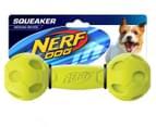 NERF Dog Medium Squeaker Barbell Toy - Green 1