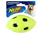 NERF Dog Small Crunchable Football Toy - Green 1