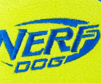 NERF Dog Medium Trackshot Football Squeaker Toy - Blue/Green 6
