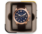 Fossil Men's 44mm Pilot 54 Leather Watch - Dark Brown 5