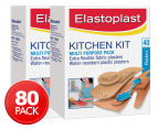 2 x Elastoplast Kitchen Kit Plasters 40pk 1