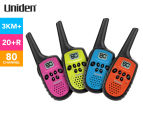 Uniden UH35-4 80-Channel Mini Compact Handheld Radios 1