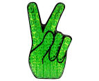 AirTime Luxe Peace Out Hand Pool Float - Green 1