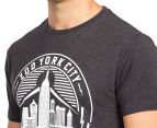 Zoo York Men's Electric Short Sleeve Tee - Black Heather 6