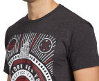 Zoo York Men's Refuge Short Sleeve Tee - Black Heather 6