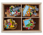 Melissa & Doug Vehicles Puzzle In A Box 2