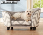 Enchanted Home Chaise Lounge Pet Bed For Small Dogs - Grey 1