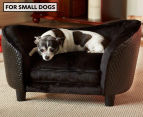 Enchanted Home Pet Plush Snuggle Bed For Small Dogs - Black 1