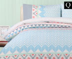 Belmondo Home Lindsey Queen Bed Quilt Cover Set - Multi 1