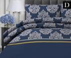 Belmondo Home Cumbria Double Bed Quilt Cover Set - Blue 1