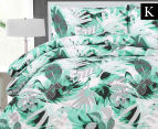 Belmondo Home Congo King Bed Quilt Cover Set - Green 1
