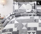 Belmondo Home Azaki King Bed Quilt Cover Set - Charcoal 1