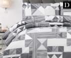 Belmondo Home Azaki Double Bed Quilt Cover Set - Charcoal 1